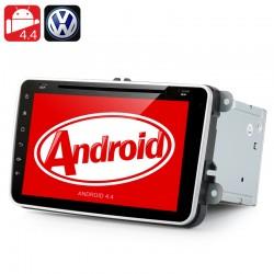 DIN Android 4.4 Unité Double Car Head lecteur DVD pour les véhicules Volkswagen